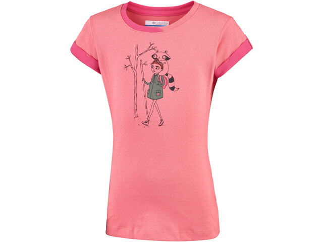 Columbia Lost Trail T-shirt manches courtes Fille, hot coral